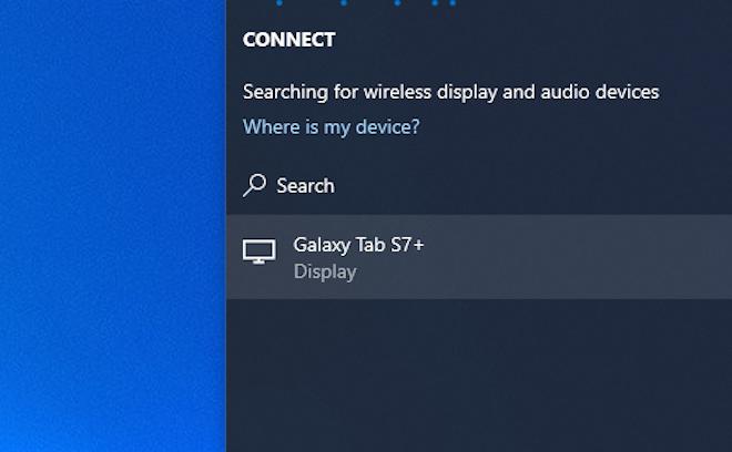 Cách chia sẻ màn hình máy tính bảng Samsung lên laptop