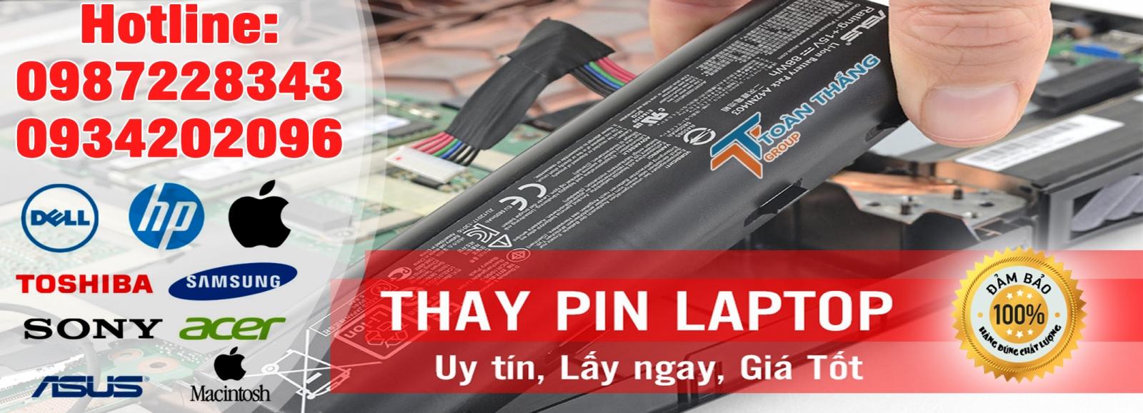 Công Ty Dịch Vụ Thay Pin Laptop Tận Nơi Quận TPHCM Uy Tín Chính Hãng