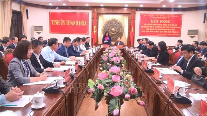 Đoàn công tác về phòng, chống tham nhũng làm việc tại Thanh Hóa