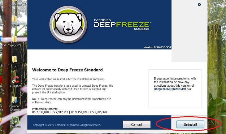 Hướng dẫn cài đặt và sử dụng phần mềm đóng băng ổ cứng Deep Freeze