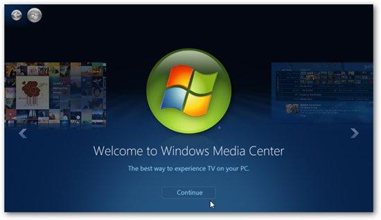 Sầu lập tín hiệu TV trong suốt Windows Media Center